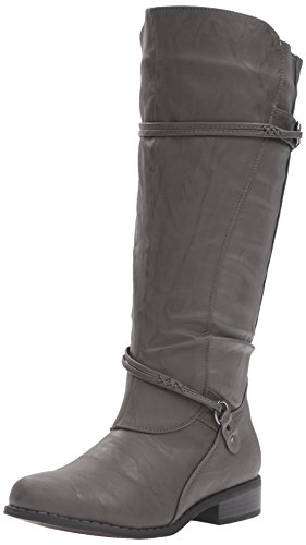 Brinley Co Femmes Olive-wc Botte Déquitation Gris Large Veau