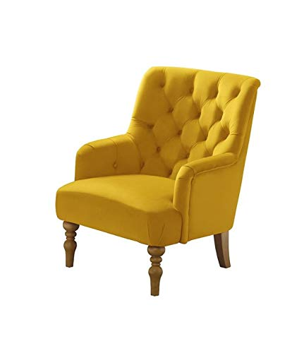 French Louis Armchair Button Back Shabby Chic Furniture Vintage Chair Linen Fabric Velvet Lounge Seat Small Solid Oak Wood Legs Occasional Living Room