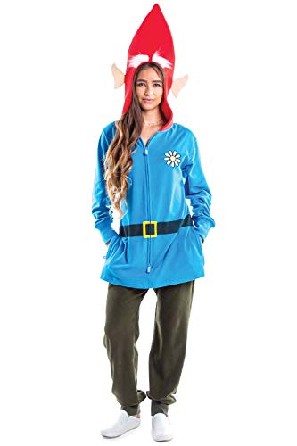 Funny Garden Gnome Costume for Women - Adult Lawn Gnome Halloween Costume: Medium Blue]()
