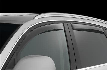 Wellvisors Rain Sun Wind Deflectors Lexus ES350 07-12 Window Visors Chrome