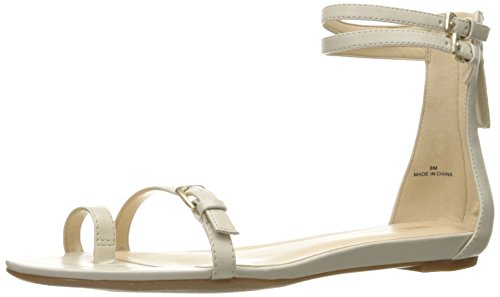 Nine West Onque sintético vestido de la sandalia Off White