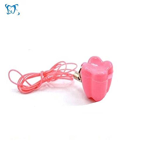 Teeth Storage Box, Lovely Baby Milk Tooth Organizer with Necklace Case Gift for Kids-Pink(10 Pieces)