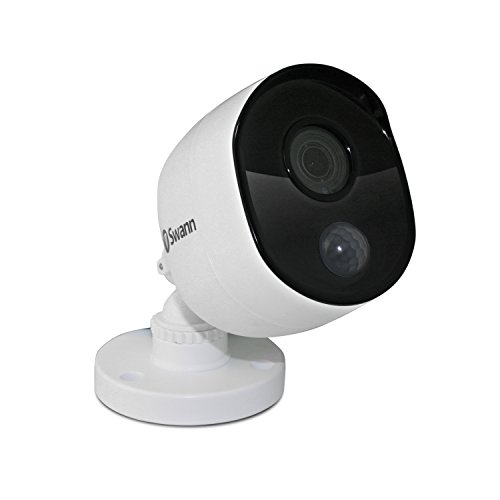 Swann SWPRO-1080MSB-US 1080P PIR Motion Sensors and 100ft / 30m of Night Vision Add on Bullet Camera, White