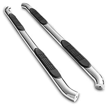 2017-2020 F250//F350//F450//F550 Super Duty Crew Cab Pickup Truck PNC Oval Bend T304 Stainless Steel Side Bars Nerf Bars Running Boards 2 Pcs TAC 4.25 Side Steps Fit 2015-2020 Ford F150 SuperCrew Cab
