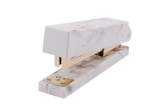 Heavy Duty Marble Stapler with Anti-Skip Pad School Office Must Sationary,Medium Manual Binding Stapler, Suitable for Staples 24/6,26/6 by BXT