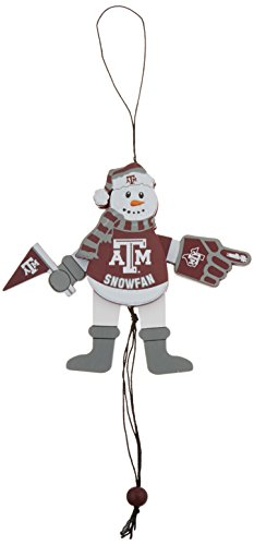 NCAA Texas A&M Aggies Wooden Cheering Snowman (Texas A&m Snowman)
