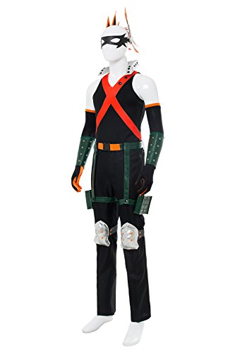 NoveltyBoy BNHA Boku No Hero My Hero Academia Katsuki Bakugou Battle Suit Cosplay Costume Tights (X-Small, Black) by NoveltyBoy (Image #1)