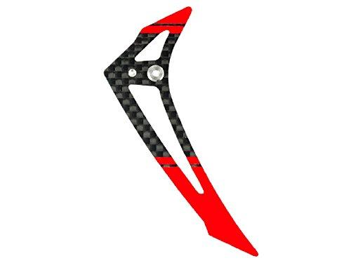 Microheli Carbon Fiber Vertical Fin (RED) - BLADE 180 CFX