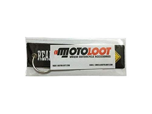 Moto Loot Keychain for Motorcycles, Scooters, Cars and Gifts (Real Men Like Curves)