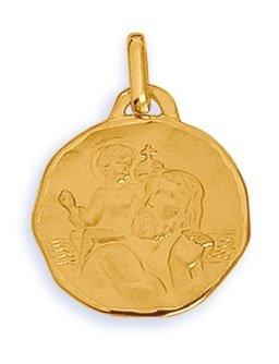 Medaille saint christophe or 750