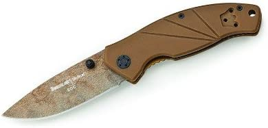 Timberline 4313 SOC Plain Edge Folding Coyote Knife with Tan Handle