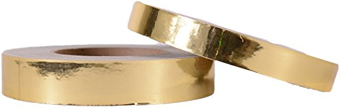 Decorative Mirror Surface Metallic Tape - Gold (1-inch x 150-feet) by Hoopologie