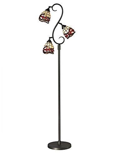 (Dale Tiffany TF12408 Fall River 3-Light Floor Lamp, 14.0