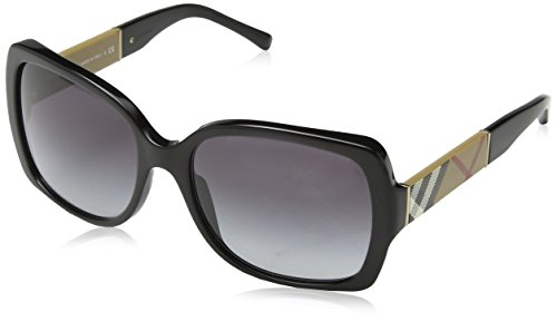 Burberry BE4160 34338G Black BE4160 Square Sunglasses Lens Category 3 Size 58mm from BURBERRY