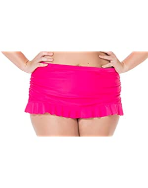 Jessica Simpson Plus Seaglass Ruffle Skirted Bottom