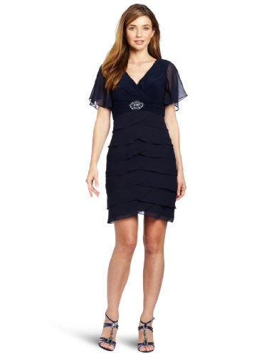 Jessica Howard Women's 1 Piece Flutter Sleeve Dress
