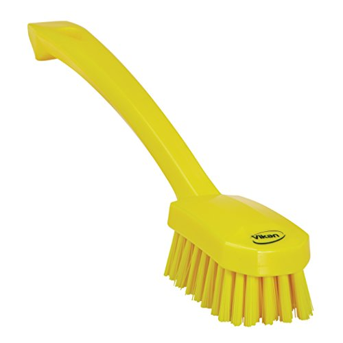 (Vikan 30886 Small Utility Brush, Polyester Bristle, 2.76