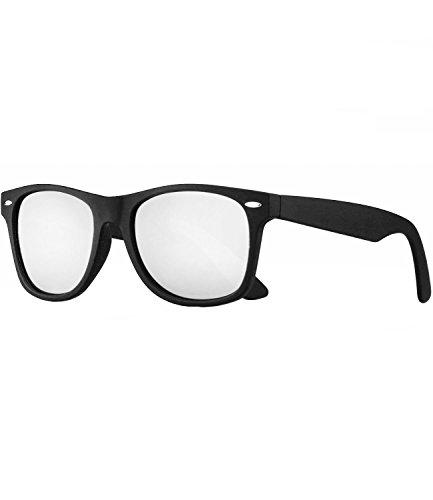 Caripe Sonnenbrille polarisiert verspiegelt Nerd Brille matt polariseriend Damen Herren- pol (Schwarz matt 99FkZu