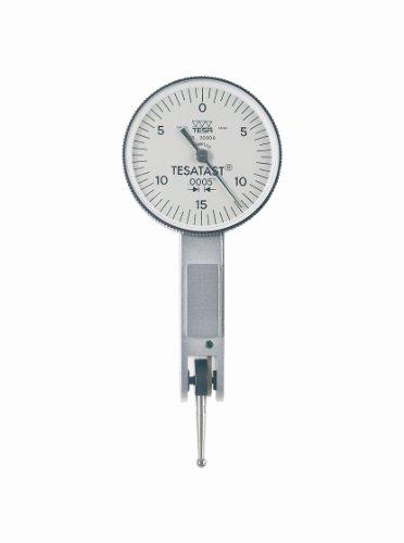 Brown & Sharpe TESA 18.20006 Tesatast Dial Test Indicator, Top Mounted, M1.4x0.3 Thread, 0.0787