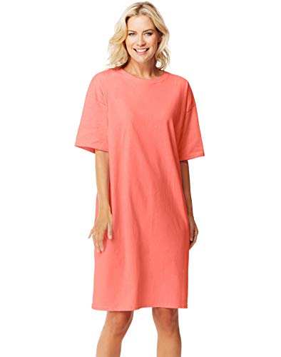 Hanes Women's Wear Around Nightshirt, Charisma Coral, One Size]()