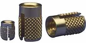 With Head .250 Lg. Thd. 6-32 Int Brass 1 Each E-Z Lok Press Inserts for Plastics