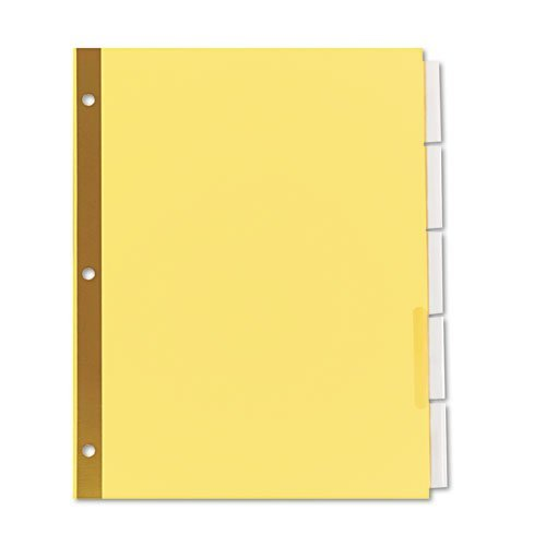 - Universal Products - Universal - Extended Insert Indexes, Five Clear Tabs, Letter, Buff, 6 Sets/Pack - Sold As 1 Pack - Extra-long tabs for longer titles. - Easy to change or re-arrange titles. - Double sided gold Mylar reinforced binding edge.