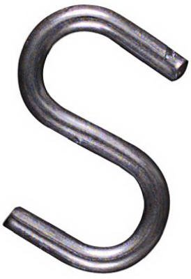 National N121-566 1'' Heavy Open Metal ''S'' Hooks - Quantity 150
