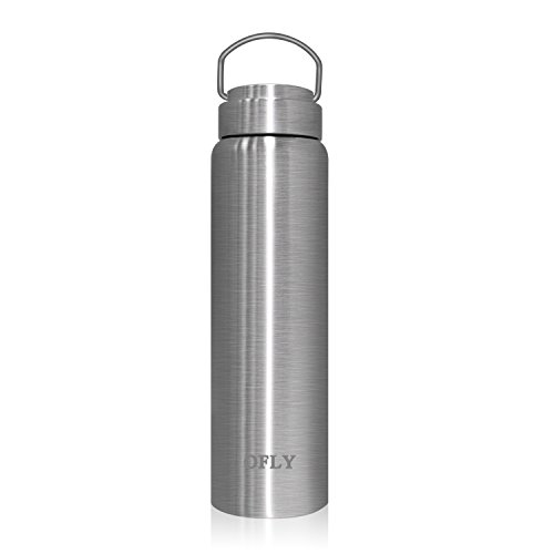 OFLY Pure Stainless Steel Vacuum Water Bottle Double Walled