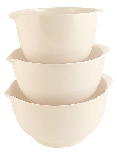 Hutzler Melamine Mixing Bowl Set: 2, 3 and 4 Liters, White