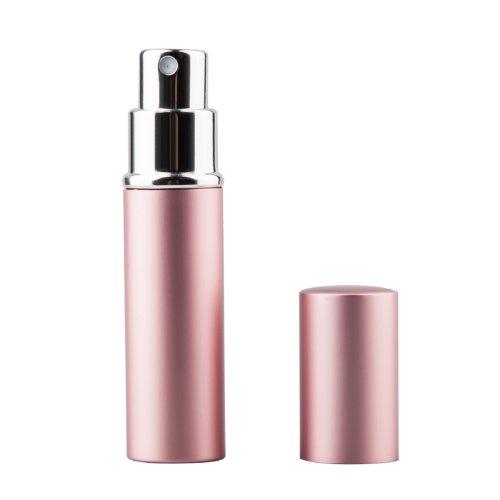 TRIXES Aftershave Parfum Fläschchen und Zerstäuber mit 5ml für die Reise in Pink
