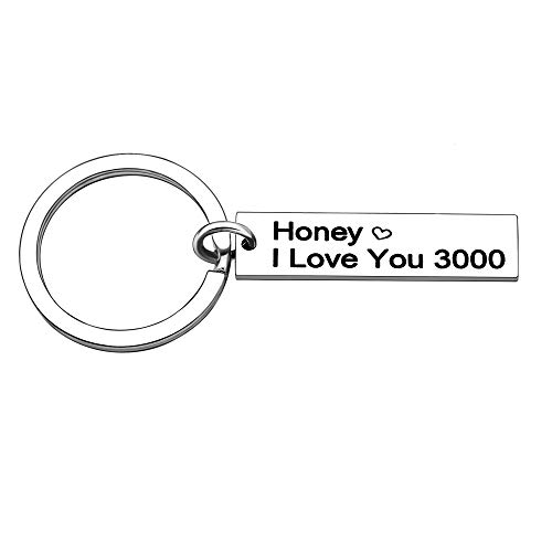 Novia Llavero Regalos de Cumpleanos Novio Dia de San Valentin Miel I Love You 3000