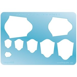 Cool Tools - Jewelry Shape Template - Shield 1