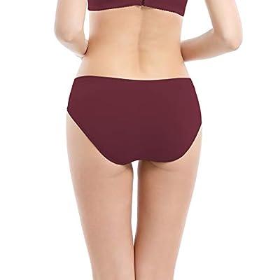 Areke Womens Bikini Panties Seamless Underwear, Soft Stretch Cheekini Hipster Briefs 6 Pack at Women's Clothing store