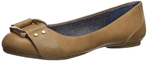 Dr. Scholl's Shoes Women's Frankie Ballet Flat, Nude Smooth, 9 M US (Comfort Flat Shoes)
