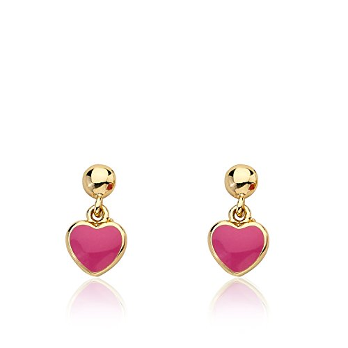 Little Miss Twin Stars Girls Earrings - 14k Gold Plated Small Dangling Earring - Surgical Steel Post For Sensitive Ears