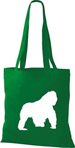 Krokodil Tela De Kelly Bolso Algodón Verde Mujer Para vvT6qnr