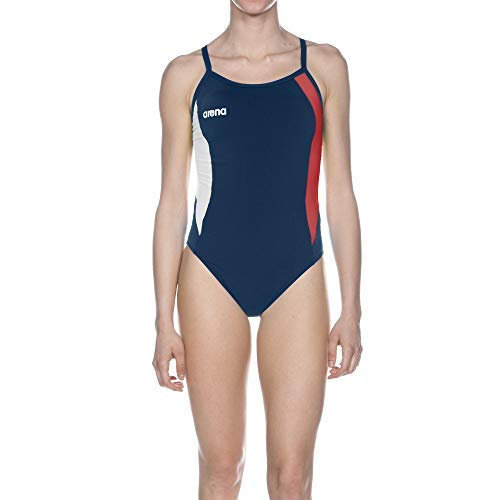 Arena W Directus Challenge Back One Piece Navy,rouge,blanc, Taille 36