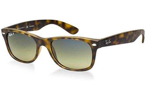 Ray Ban RB2132 894/76 55 Matte Havana Polarized New Wayfarer Bundle-2 - New Ban 76 Ray 894 Sunglasses Polarized Rb2132 Wayfarer