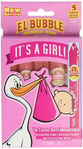 It's a Girl Bubble Gum Cigars 5ct