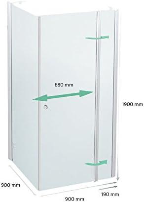Cabina de ducha 90 x 90 cm, mampara de 90 x 90 x 190 cm, Elox, derecho: Amazon.es: Bricolaje y herramientas