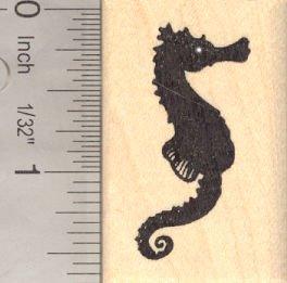 Seahorse Silhouette Rubber Stamp, Sea Horse