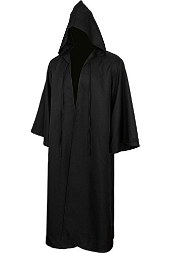 Vantina Men Tunic Hooded Robe Halloween Cosplay Costume Robe Cloak Cape ()