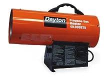 Dayton 3VE55 Heater, Torpedo, Lp