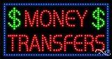 Money Transfers - Ultra Bright LED Sign - 17'' x 32''