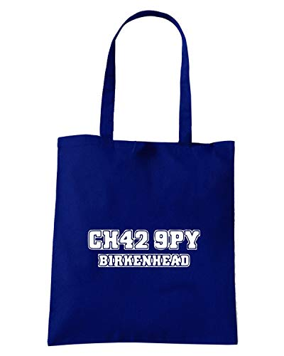 Speed Shirt Borsa Shopper Blu Navy WC1102 TRANMERE ROVERS POSTCODE