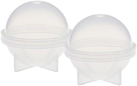 球形 キャンドルモールド キャンドル シリコーン金型 金型 石鹸金型 クリア シリコン製