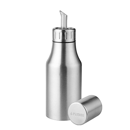 Flyboo Oil Dispenser Oil Vinegar Pourer Bottle Olive Oil Container Safey Exquisitely Leak Proof Unbreakable Oil Quantity Control Fits Perfect for BBQ 17oz (500ML)