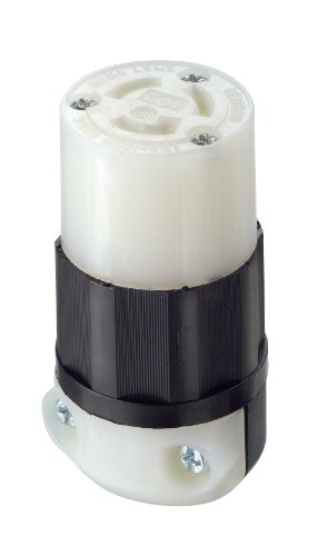 Leviton 4729-C 15 Amp, 125 Volt, NEMA L5-15R, 2P, 3W, Locking Connector, Industrial Grade, Grounding, - Nema L5 15