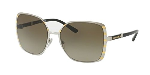 Tory Burch Women's 0TY6055 57mm Silver/Gold/Smoke Gradient - Brand Sunglasses Name Of