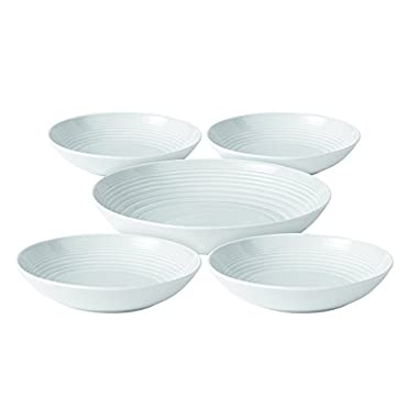 Royal Doulton Maze 5 Piece Pasta Set, White